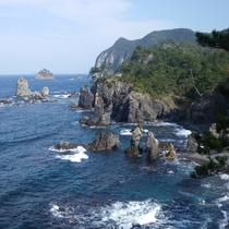 青海島海上アルプス(遊歩道から)