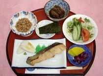 朝食の「和定食セット」