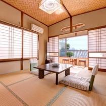 *和室6畳(客室一例)/一人旅やビジネスにおすすめ!お部屋から望む出雲の街並みに心癒されるひと時を。