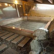男性岩風呂