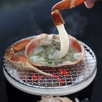 (蟹)焼物 焼き蟹 & 蟹しゃぶ