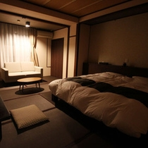 弐の棟・和室モダンルーム34平米(ダブルベッド)