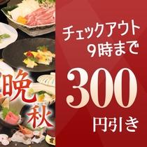 300円引き!晩秋