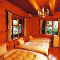 カナディアンログハウス・1階ベッド