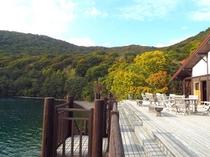 中禅寺湖畔のボートハウス