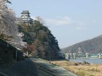 犬山城 旅館前の木曽川より