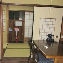 【ダイニング】京町屋を佇まいをそのまま活かしております