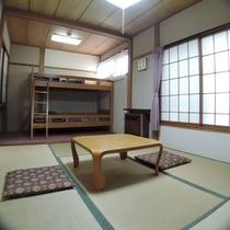 【和室おまかせ/6畳+2段ベッド】小グループに嬉しい2段ベッドのあるお部屋(※客室の指定不可)