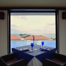 *【レストラン】伊良部ブルーを眺めながら、朝の一時をお楽しみ下さい。