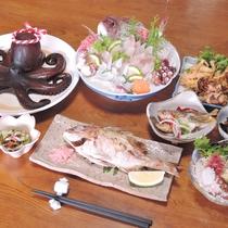 *【夕食一例】名物のタコをはじめ有明海の海の幸をお召し上がりください