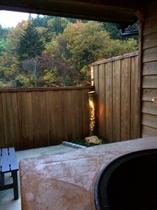 五右衛門風呂から見える景色