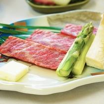 牛肉の宝楽焼【夕食通常コース】