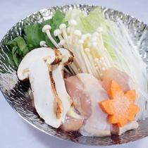 秋のコース 信州地鶏と松茸鍋