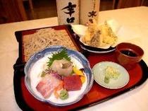 会津の地酒付き蕎麦御膳