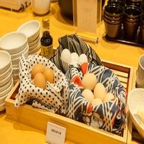 ◆朝食 新鮮生玉子3種