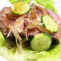 *【夕食一例】ローストビーフのサラダ