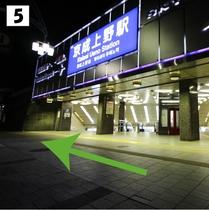 ⑤京成上野駅正面口を直進