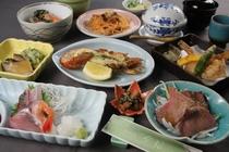 夏の会席プラン夕食例