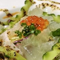 御料理一例 鯛のカルパッチョ
