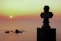 西海岸に沈む夕日