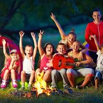 *お庭で音楽弾きながらキャンプファイヤー!こんな夜の過ごし方もお勧め☆
