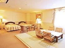 【和洋室】2キングサイズベッド+和室