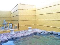 【露天風呂】肌に優しい天然温泉です
