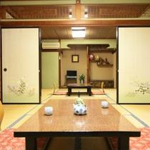 離れ (3)当館の宿泊棟は、昔ながらの平屋建。