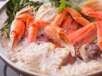 カニスキの写真雑炊は蟹味噌を入れ当館秘伝のお出汁で相性抜群