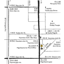 """京都清水の町家 和""""NAGOMI"""" 地図"""