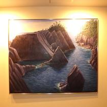 *館内絵画/ホテル椿の館内には、三軌会会員佐々木忠和画伯等の絵画を各所に展示。是非ご覧くださいませ。