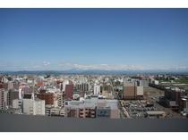 ホテルから大雪連山を望む