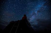 満天の星空。