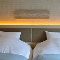 【ゆらぎ洋室】シモンズ社製ベッドで快適な睡眠を。