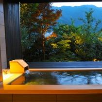 【貸切風呂 霞~KASUMI~】自然を感じながら、下呂のお湯をお楽しみいただけます。