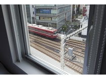 駅側客室からの風景(一部の部屋からご覧いただけます)