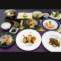 【岬コース】海の幸とお肉料理の融合!ホテル恵風のスタンダードコースです。