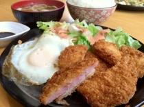 宜野座村恵ちゃんのハムカツ定食