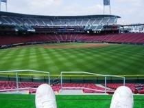 【マツダスタジアム】人気の「ネソベリア」はスタンドに寝そべって観戦できます!球を避けるのが大変かもw