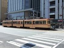 【路面電車】路面電車の博物館と言われるくらい、新旧様々な路面電車が広島市内を走ります♪