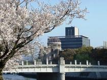 【原爆ドーム】平和記念公園内にある平和のシンボル