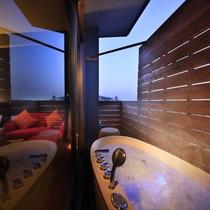 最上階露天風呂付きツイン和室(一例)