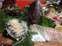 鯛サザエ舟盛り