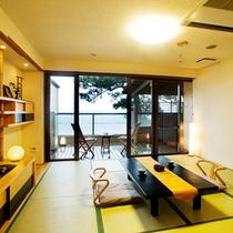 ◆海側保証◆DX露天風呂付客室【ふくじゅそう】