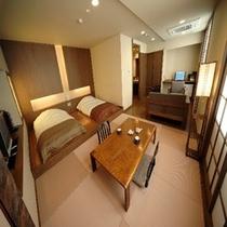 デザイナーズ☆洋風客室【フロアツインベット和の間6畳】(2005年3月にリニューアル)