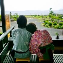 ● 萩の癒しスポット『菊ヶ浜一望☆足湯』