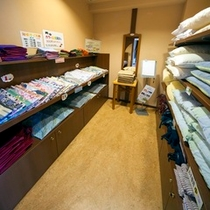 男女カラー浴衣&貸出し枕コーナー(一例)