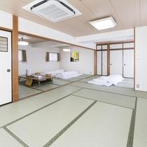 お部屋/和室大部屋|小さなお子様連れや3世代ファミリーに最適なお部屋です。