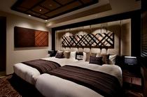 スィートのベッドルーム