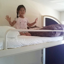 客室は全室普段家庭に無いロフト付子供が大喜び
